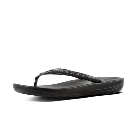 IQUSHION-ERGONOMIC-FLIP-FLOPS-CRYSTAL-BLACK_K39-001