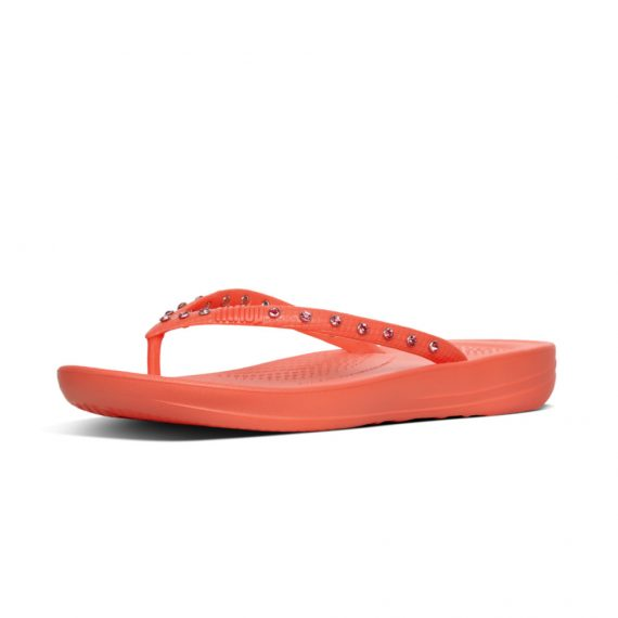 IQUSHION-ERGONOMIC-FLIP-FLOPS-CRYSTAL-SUNSHINE-CORAL_K39-580
