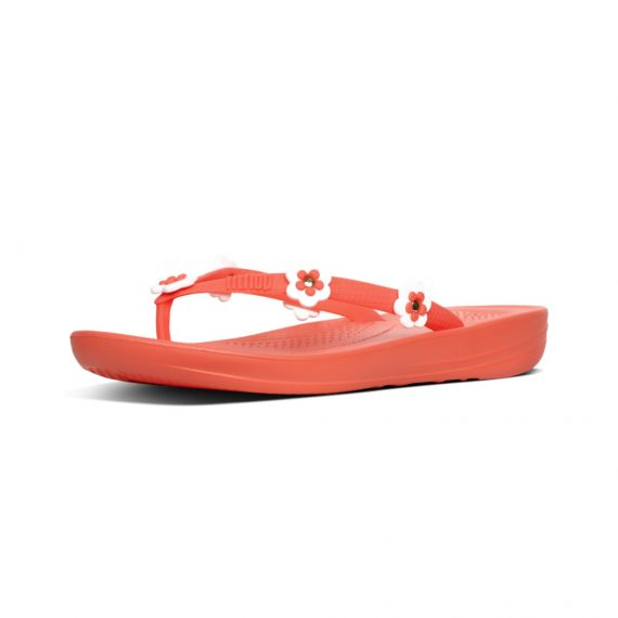 IQUSHION-ERGONOMIC-FLIP-FLOPS-FLOWER-STUD-SUNSHINE-CORAL_K41-580