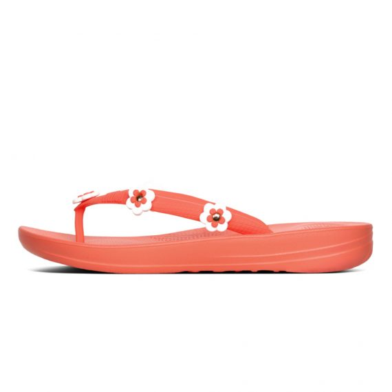 IQUSHION-ERGONOMIC-FLIP-FLOPS-FLOWER-STUD-SUNSHINE-CORAL
