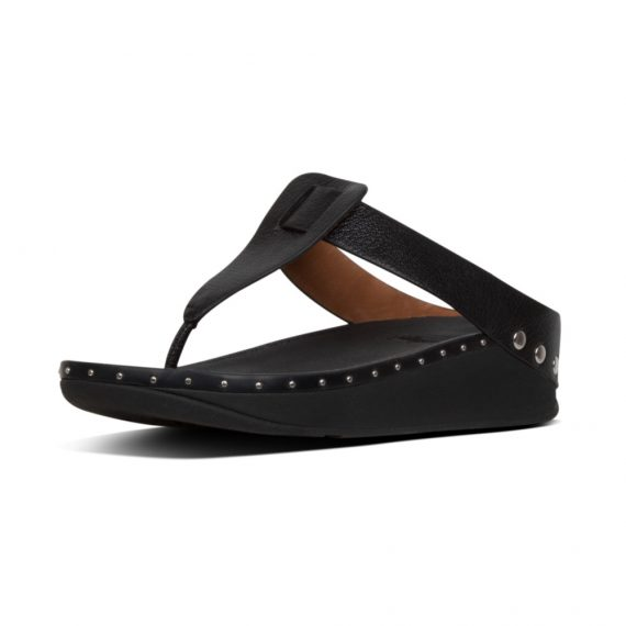 ISABELLE-STUD-TOE-POST-BLACK_T51-001