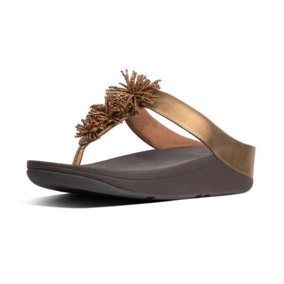 FINO-BEAD-POMPOM-TOE-POST-BRONZE_T19-012