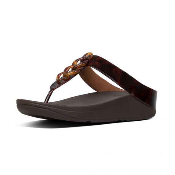 FINO-TORTOISESHELL-CHAIN-TOE-POST-CHOCOLATE-BROWN-TURTLE_T24-690