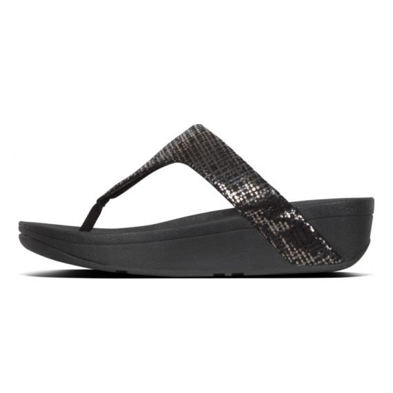 LOTTIE-CHAIN-PRINT-TOE-POST-BLACK