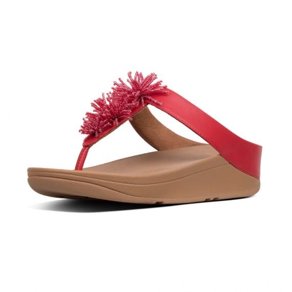 FINO-BEAD-POMPOM-TOE-POST-ADRENALINE-RED_T19-678