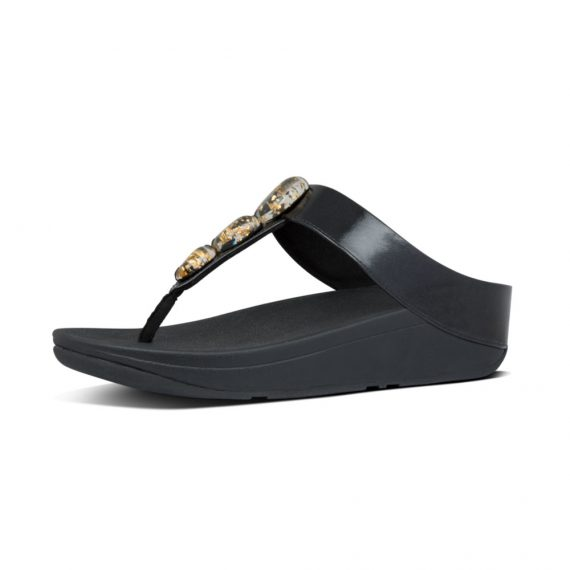 FINO-METALLIC-FLECK-STONE-TOE-THONGS-ALL-BLACK_Y12-090