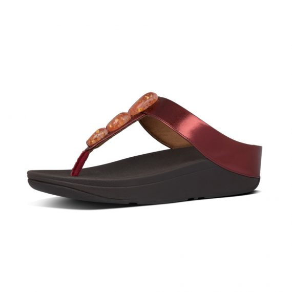FINO-METALLIC-FLECK-STONE-TOE-THONGS-DARK-RED_Y12-738