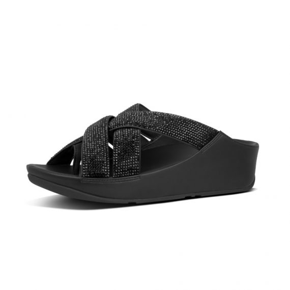 LATTICE-CRYSTAL-TOE-THONGS-ALL-BLACK_Y38-090