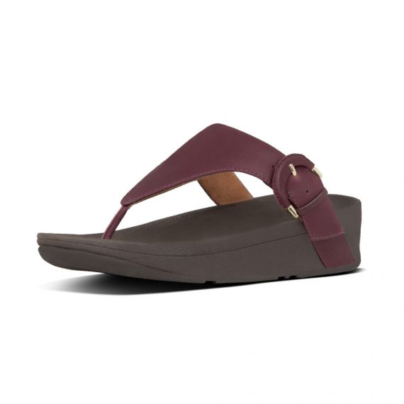 LOTTIE-BUCKLE-TOE-THONGS-LINGONBERRY_X63-744