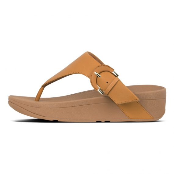 LOTTIE-BUCKLE-TOE-THONGS-MUSTARD