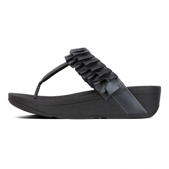PETAL-RUFFLE-TOE-THONGS-ALL-BLACK