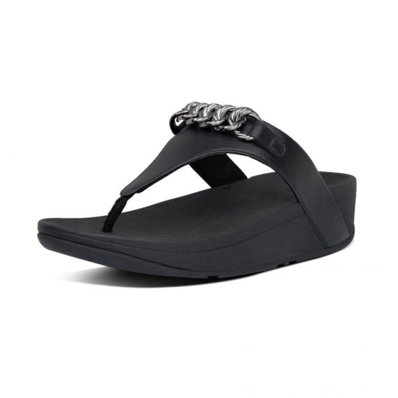 LOTTIE-CHAIN-TOE-THONGS-ALL-BLACK_AL8-090