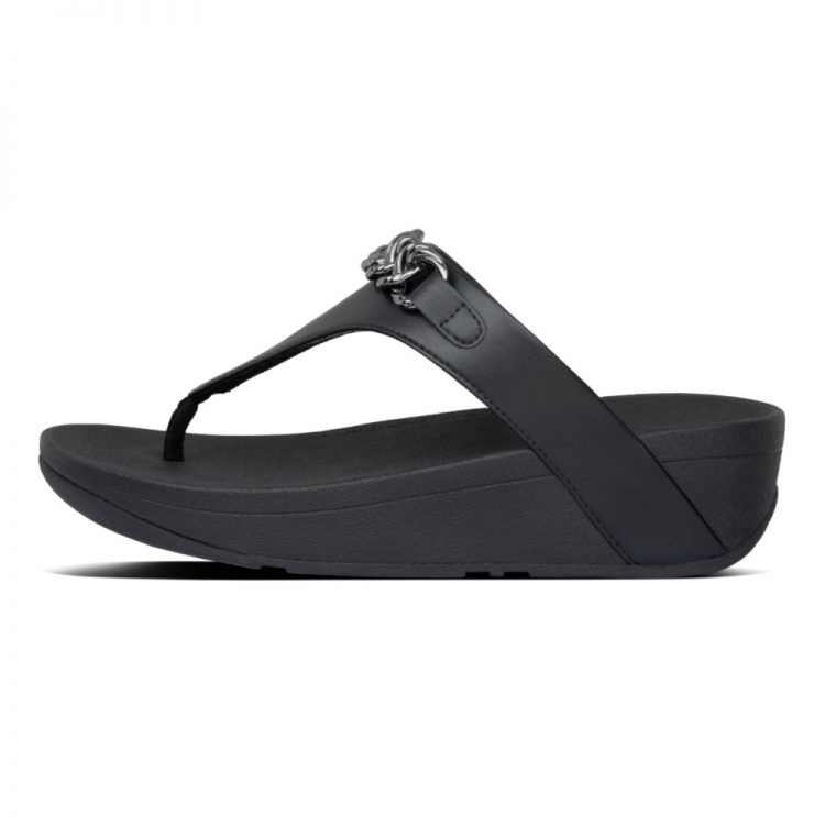 LOTTIE-CHAIN-TOE-THONGS-ALL-BLACK