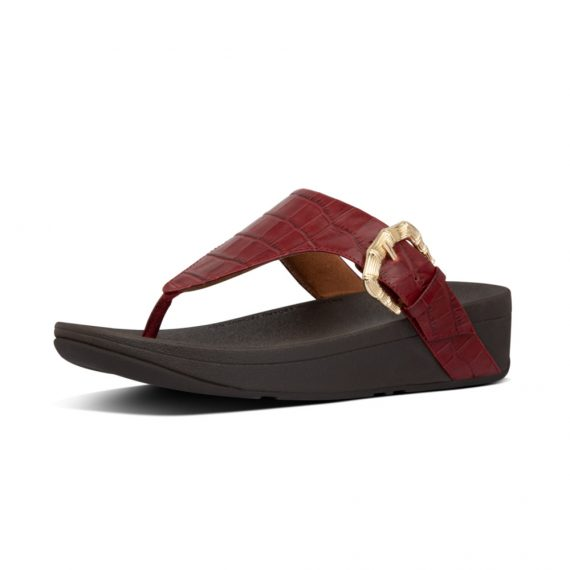 LOTTIE-CROCO-TOE-THONGS-MAROON_AK3-790