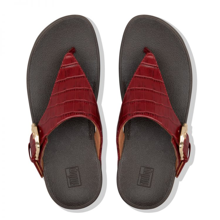 LOTTIE-CROCO-TOE-THONGS-MAROON