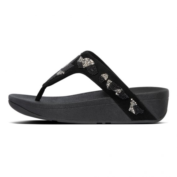LOTTIE-PATCHWORK-TOE-THONGS-BLACK