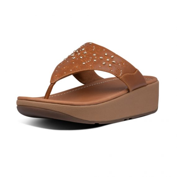 MYLA-FLORAL-STUD-TOE-THONGS-LIGHT-TAN_BI7-592