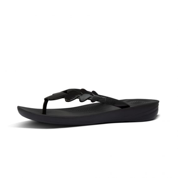 IQUSHION-VALENTINE-FLIP-FLOPS-ALL-BLACK_BD8-090
